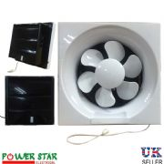"Powerful Low Noise Reverseable Bathroom kitchen Ventilation Extractor Exhaust Blower Pull Cord Fans 8"" 200mm  10"" 250mm"